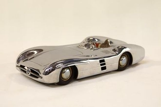 Model Car - Tinplate Mercedes-Benz 300SLR, made in West Germany (28cm long)