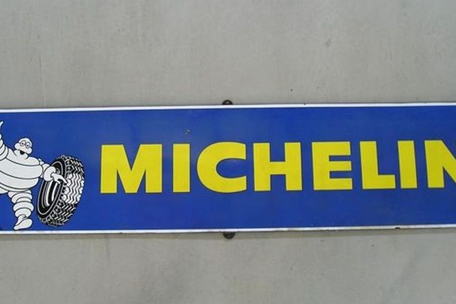 Enamel Sign - Michelin (6'6