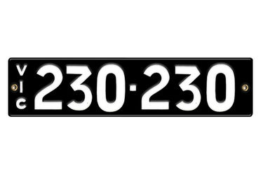 Victorian Number plates '230-230'