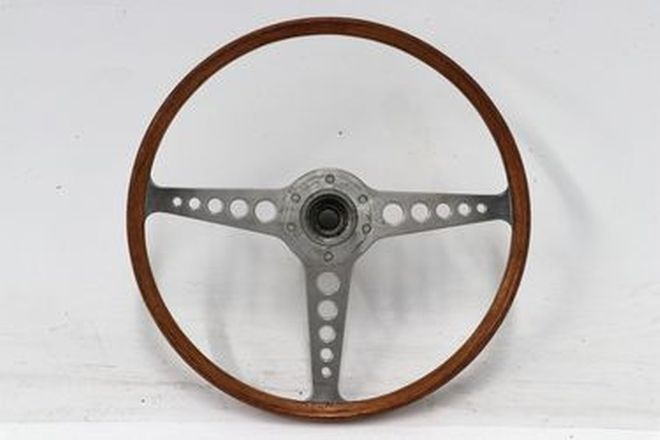 Steering Wheel - Jaguar E-Type Wood Rim - From the 'Ian Cummins Collection'