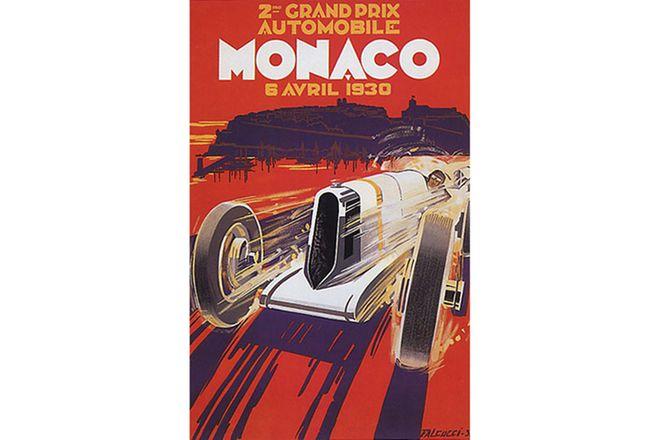 Framed print - Monaco 1930