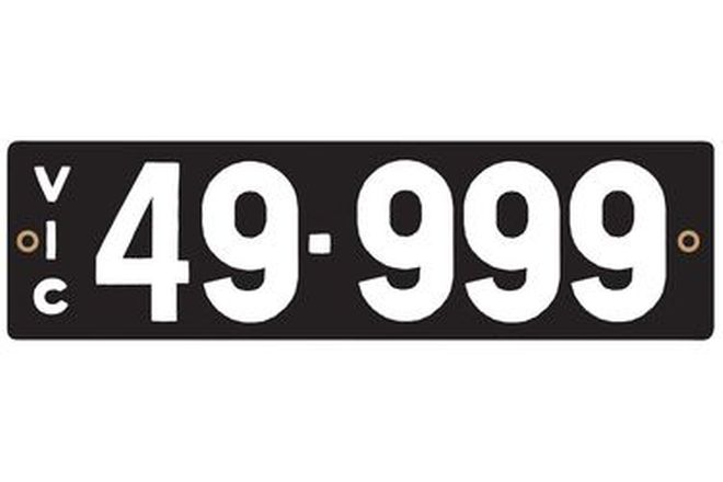 Victorian Heritage Numerical Number Plate - 49.999