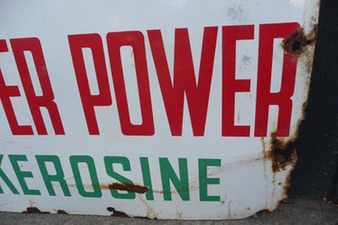 Enamel Sign - Caltex Super Power Kerosine (183 x 91cm)