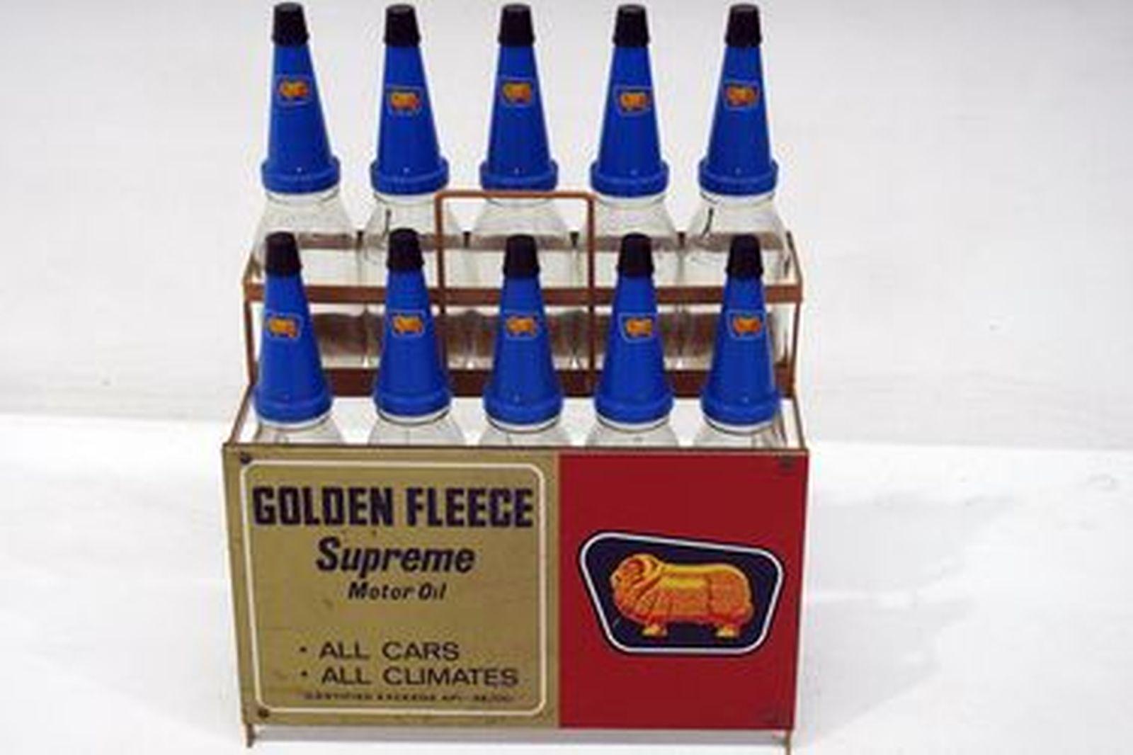 Oil Rack & Bottles -10 x bottles with tops in Golden Fleece livery