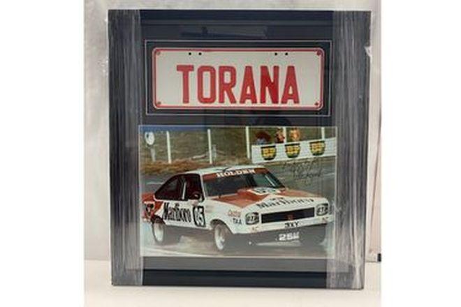 Framed Torana Number Plate & Signed Photo