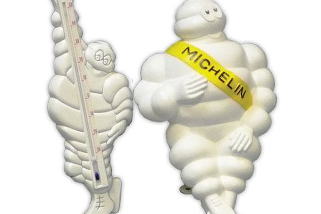 Michelin Man Lamp (43cm long) & Michelin Man Thermometer (45cm Tall)