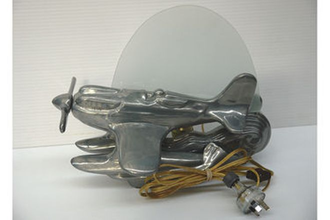 Lamp - Schneider Trophy 'Art Deco' Seaplane in Cast and polished Aluminium
