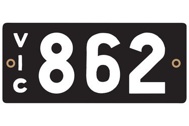 Victorian Heritage Numerical Number Plate - 862
