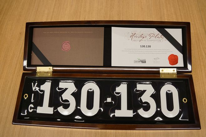 Number Plate - Victorian Numerical Number Plate - 130.130