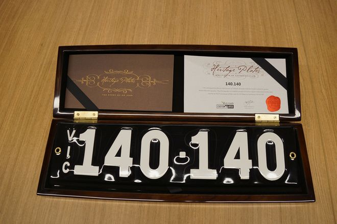 Number Plate - Victorian Numerical Number Plate - 140.140