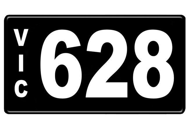 Number Plates - Victorian Numerical Number Plates '628'
