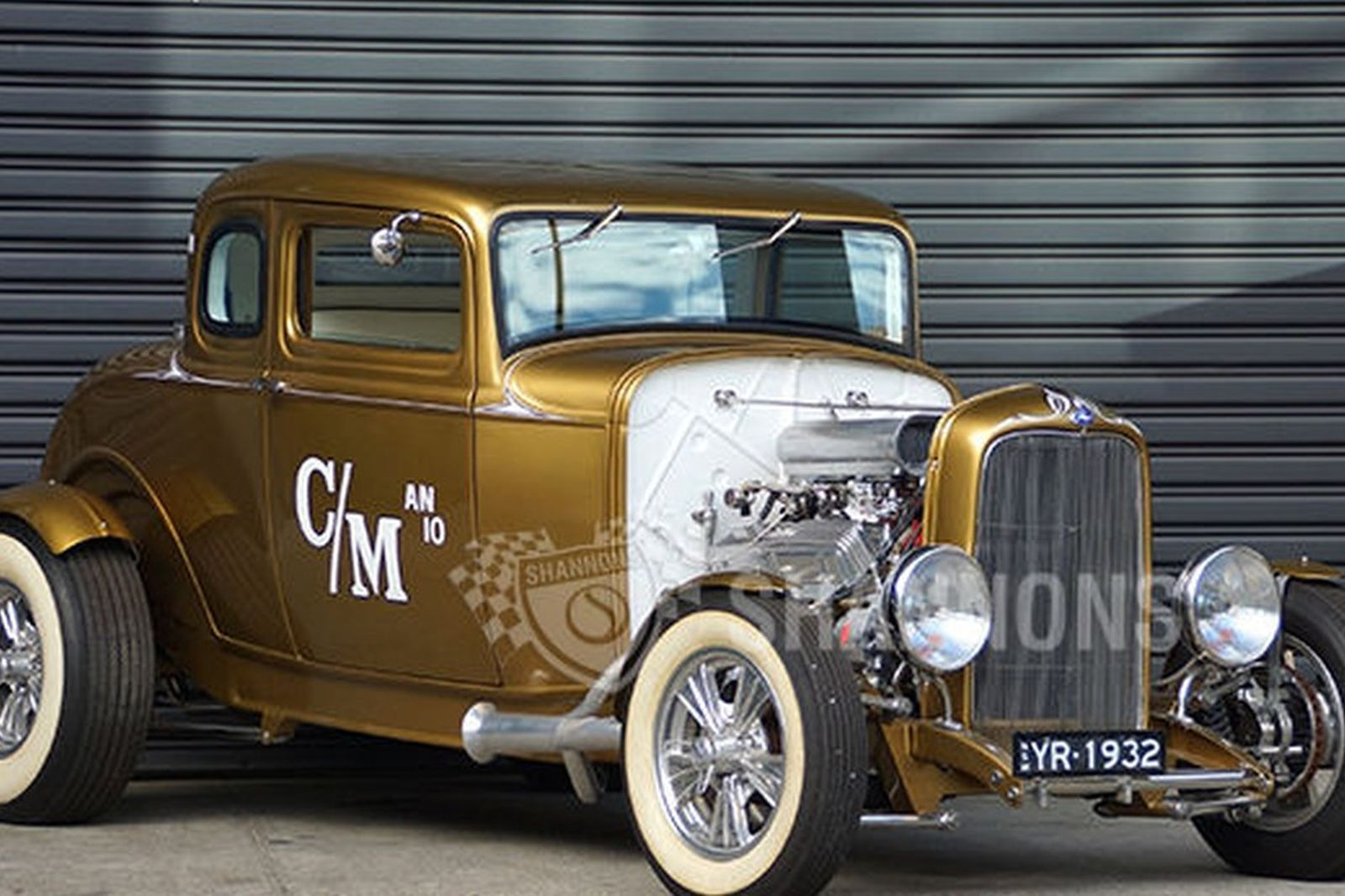 Ford 5 window hot rod coupe rhd
