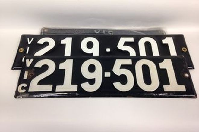 Victorian Numerical Heritage Plate  '219.501'