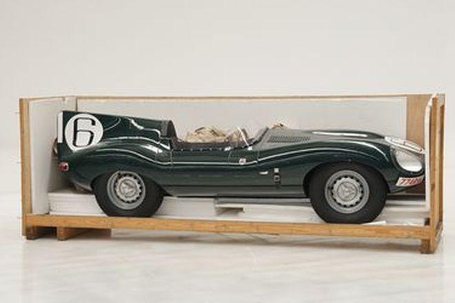 Charity Lot - Jaguar D-Type #6 fibreglass half cut (Approx. 1/2 scale) 2.6M long
