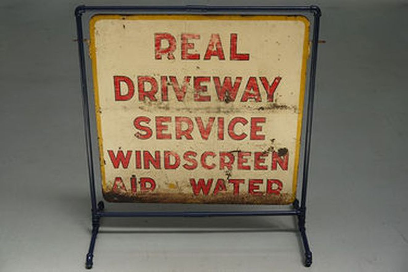 Sign - Period Petrol Station Driveway sign (Double sided) on Frame (87 x 87cm)