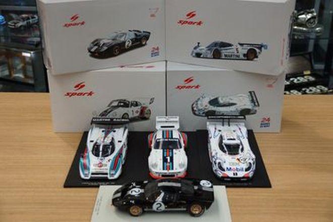 Model Cars - 4 x Spark Models - Ford GT40, Lancia LC2, Porsche 911 GT1, Porsche 935
