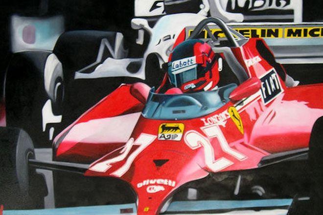 Oil Painting on Canvas - F1 Ferrari No. 27