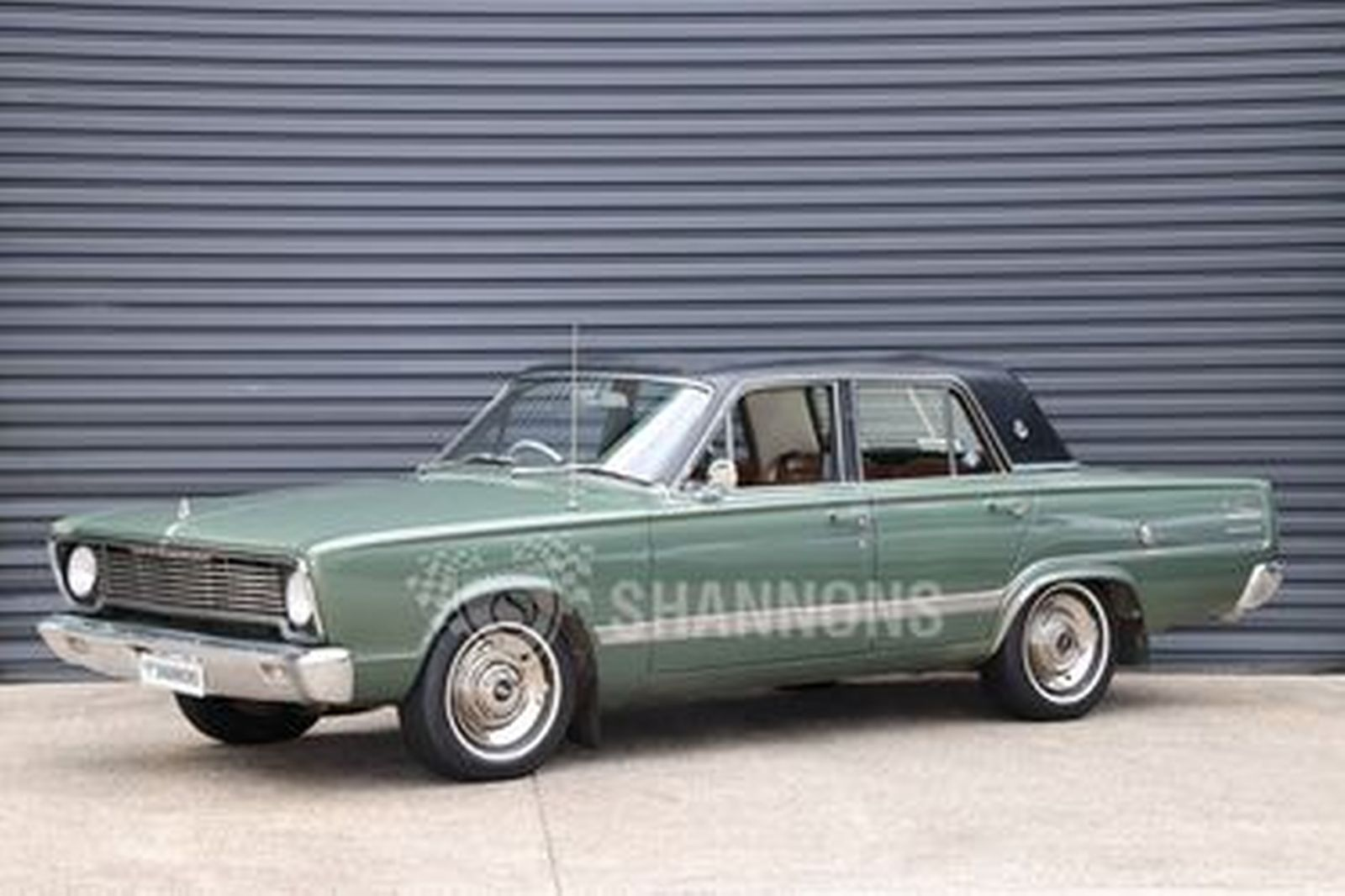 Sold chrysler valiant vc v8 sedan auctions lot 43 for Motor vehicle open on saturday
