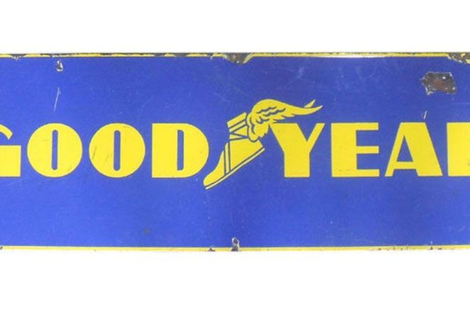 Enamel Sign - Goodyear (3' x 1')