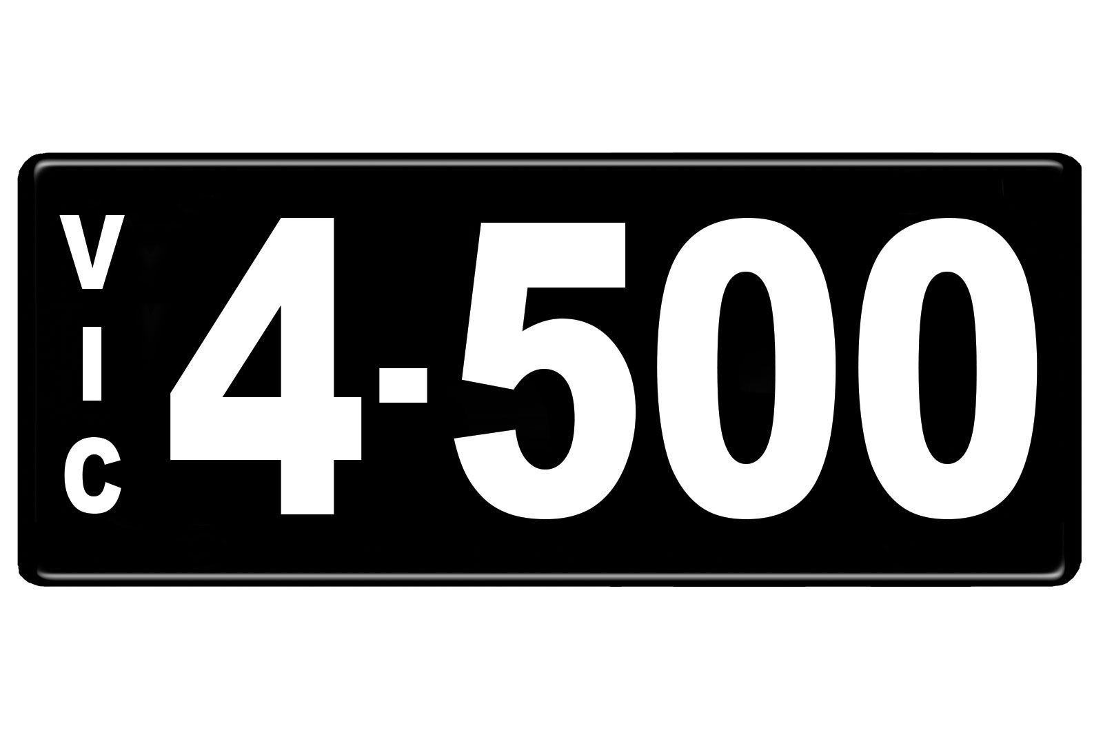 Number Plates - Victorian Numerical Number Plates '4-500'