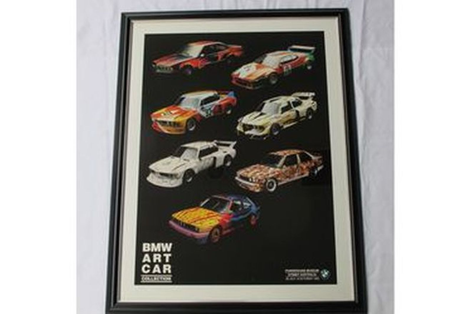 Charity Lot - 8 x Framed Posters - BMW Art Car Collection