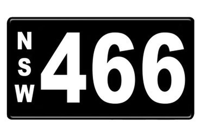 Number Plates - NSW Numerical Number Plates '466'