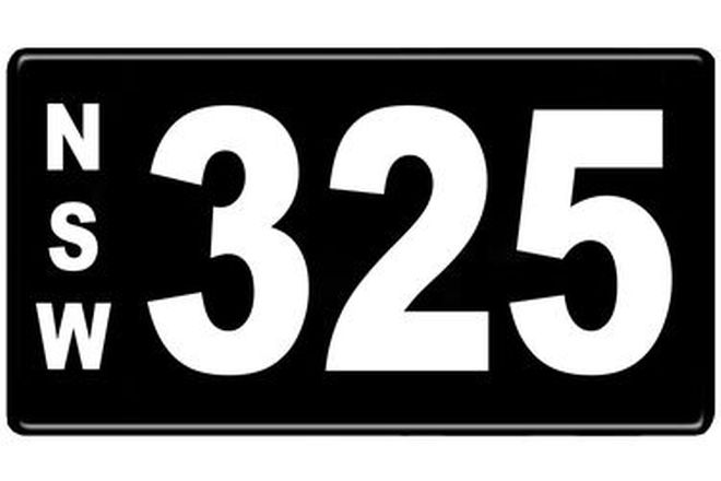 Number Plates - NSW Numerical Number Plates '325'