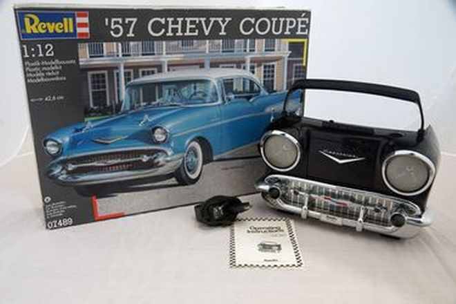 Chev Collection - 1957 Chevrolet Cassette / Radio Player & 1957 Chev Coupe Revelle Model Kit
