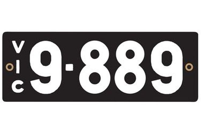 Victorian Heritage Number Plates '9.889'