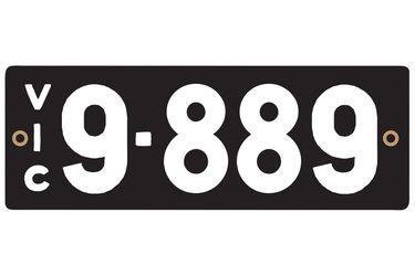 Victorian Heritage Number Plates '9.889'