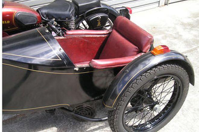 Royal Enfield Model J 500cc Motorcycle & Sidecar