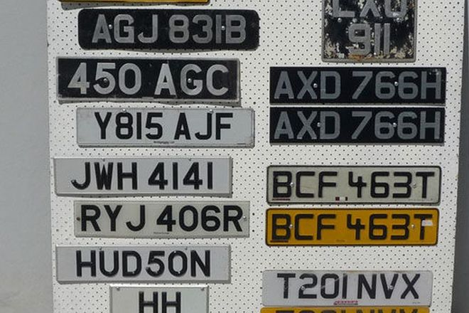 Number Plates x 15 - Collection of European Plates