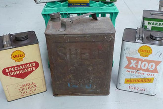 Collection of Oil and Fuel Cans (8)