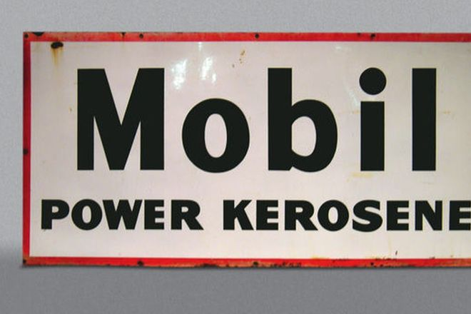 Orignal Enamel Sign - 'Mobil Power Kerosene' (6' x 3')