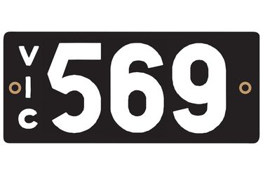 Victorian Heritage Plate '569'
