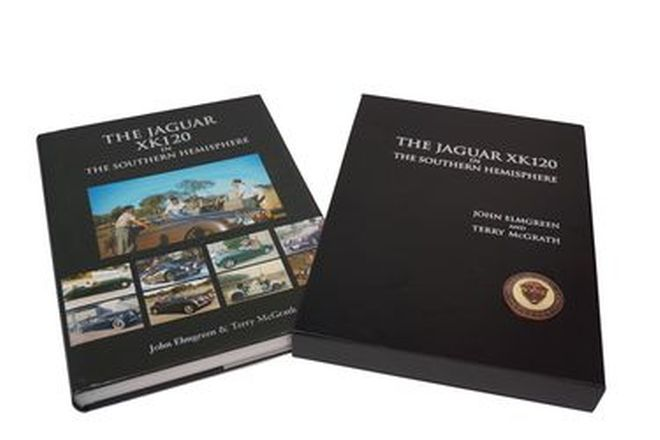 Book - Jaguar XK120 by John Elmgreen & Terry McGrath (with hardcover)  No. 823/1000