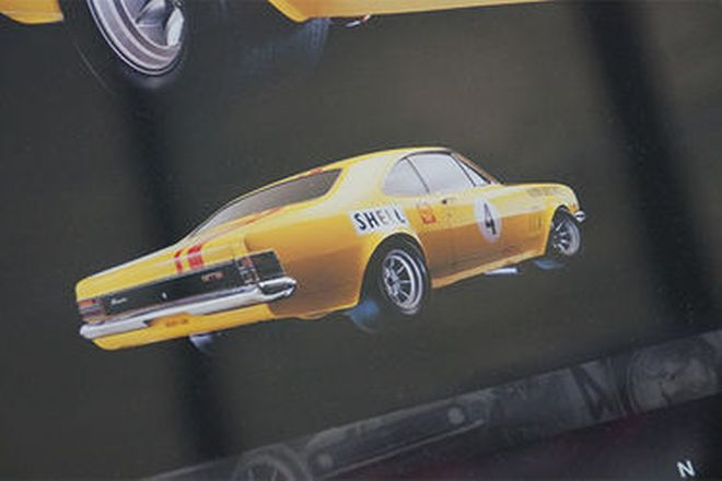 Framed Poster - Norm Beechey Holden Monaro - signed by Norm Beechey (100 x 75cm)