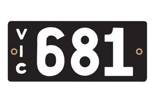 Victorian Heritage Numerical Number Plates '681'