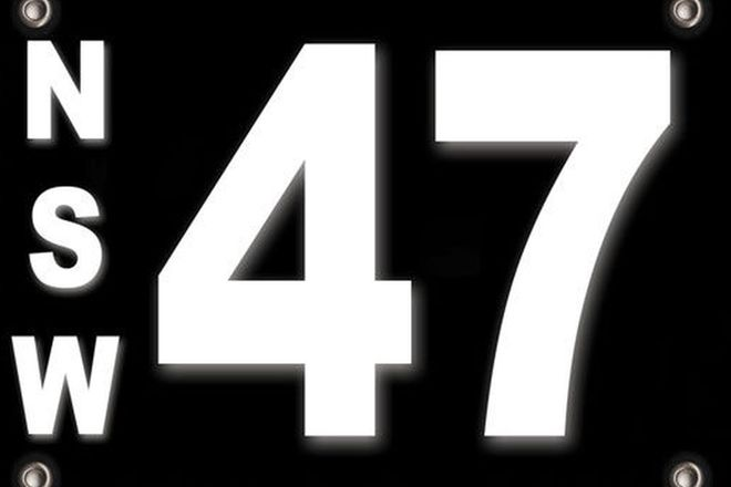 Number Plates - NSW Motorcycle Numerical Number Plates \47\