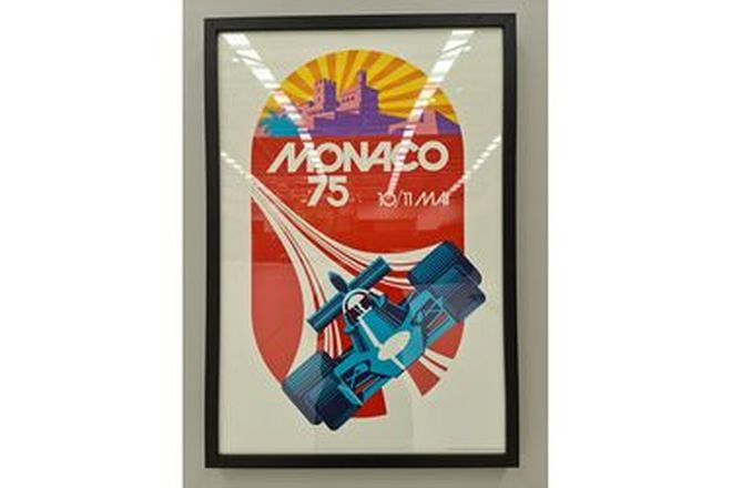 Grand Prix Monaco 75 Framed Print (720W x 1040H)