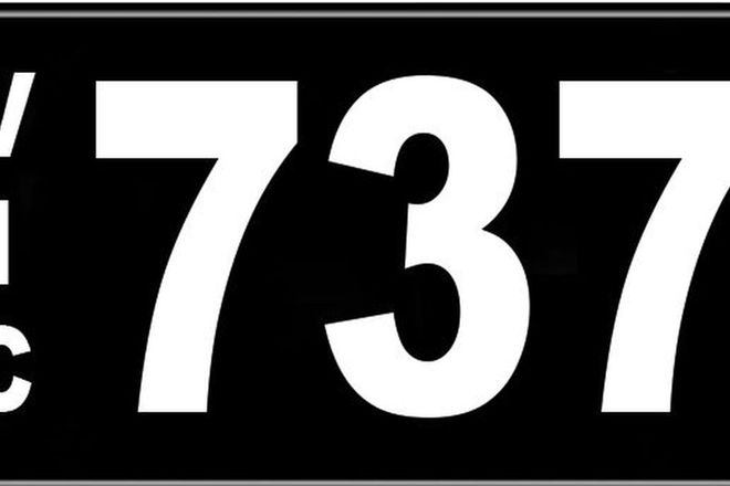 Number Plates - Victorian Numerical Number Plates '737'