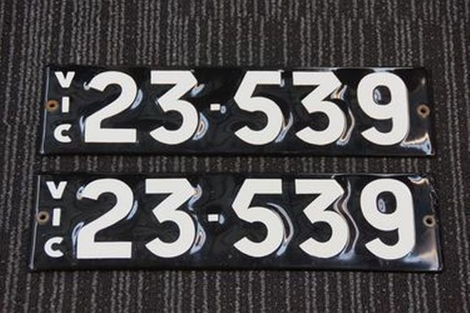 Number Plates - Victorian Numerical Number Plates '23.539'