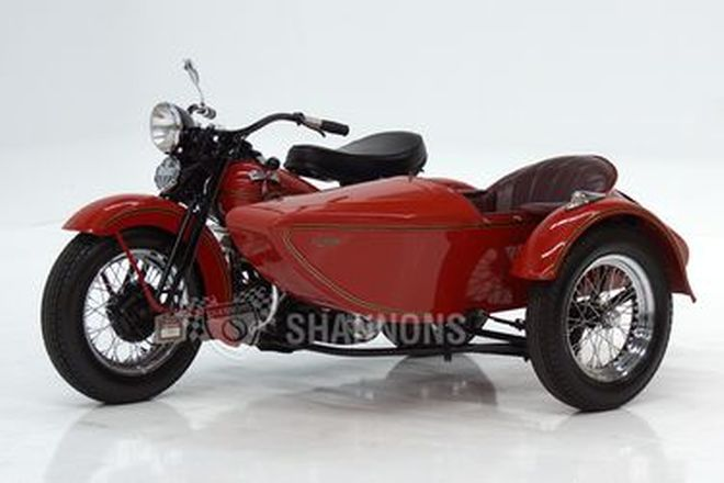 Harley-Davidson W Motorcycle with Sidecar