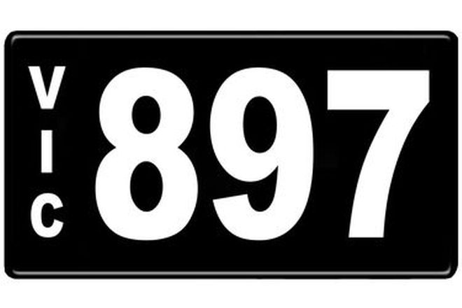 Number Plates - Victorian Numerical Number Plates '897'