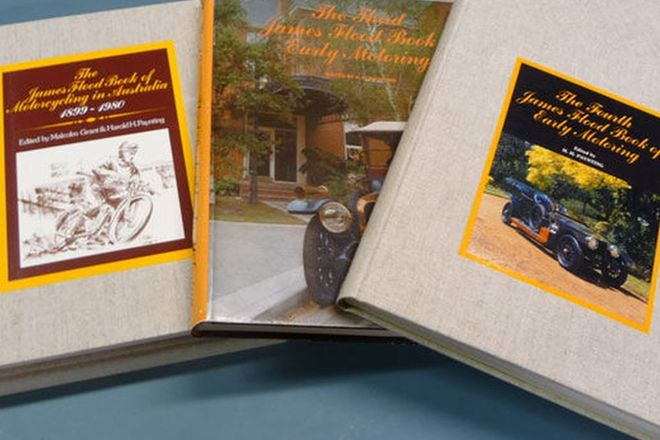 Books - 3 x James Flood Motoring books (No's 3, 4 & 5 - Motorcycling in Australia)
