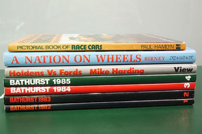 Motoring Books x 7 - Signed by Peter Brock