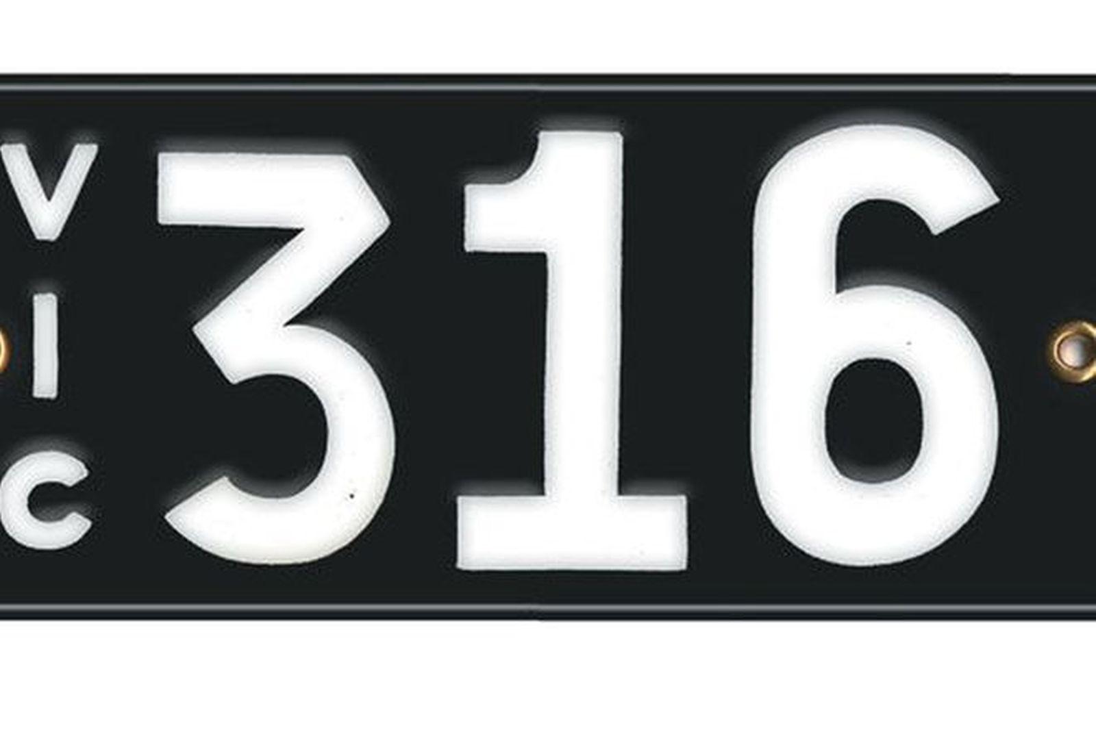 Victorian Vitreous Enamel Number Plates - '316'