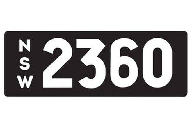 Number Plates - NSW Numerical Number Plates '2360'