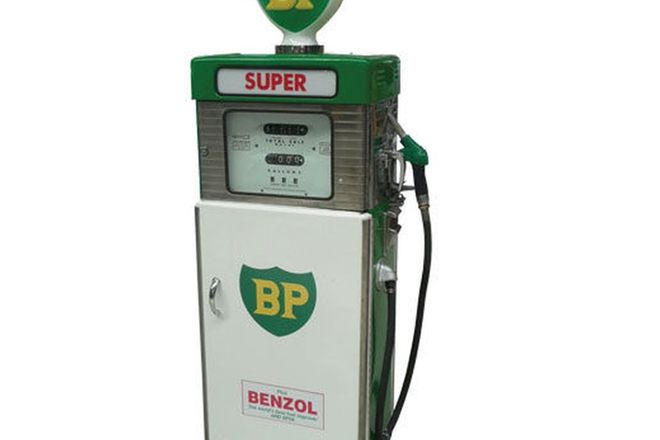 Petrol Pump Cabinet - Wayne 605 in BP Livery (Restored) including original globe