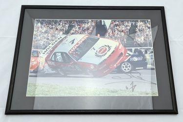 'Gardner on 2 wheels' Framed Signed Photo (566W x 414H)